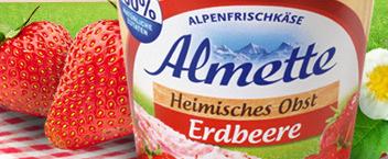 Cashback Almette Erdbeere Frischkäse