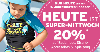 Post image for Ernstings Family: nur heute 20% Rabatt auf Bademode, Spielzeug & Accessoires