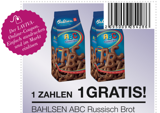 Bahlsen ABC Russisch Brot Coupon