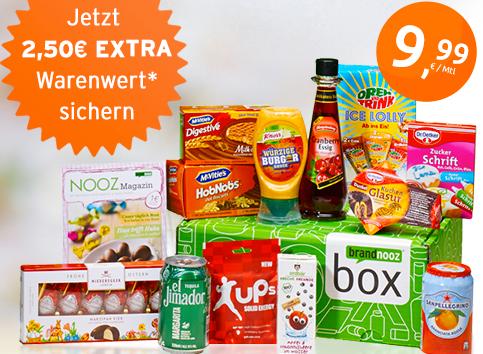 Post image for Brandnooz Box Aktion: jetzt mit 2,50€ mehr Warenwert
