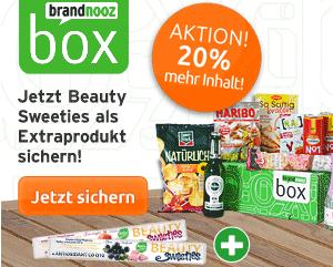 Post image for Brandnooz Box mit 20% mehr Inhalt (für Neukunden)