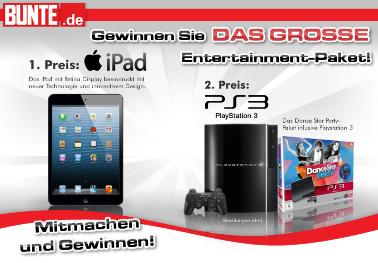 iPad und PS3 Verlosung bei Bunte.de