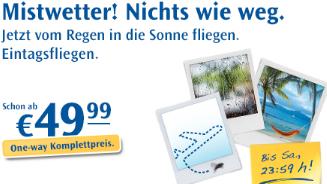 Condor Eintagsfliegen Aktion günstige Flüge