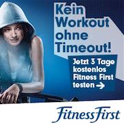 Fitness First kostenloser Gästepass