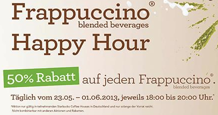 Frappuccino Happy Hour bei Starbucks