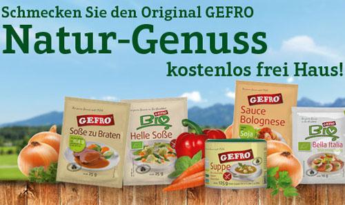 Post image for Gratis GEFRO-Testpaket mit 6 Produkten (Suppen & Soßen)