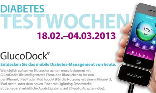 Post image for Gratis Blutzuckermessgerät GlucoDock für iPhone, iPod & iPad bestellen