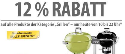 12% Rabatt auf Grill-Artikel bei meinpaket.de