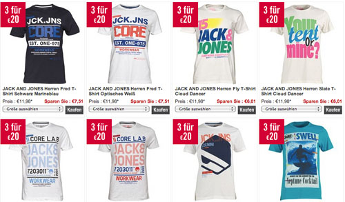 Jack & Jones T-Shirts Rabatt