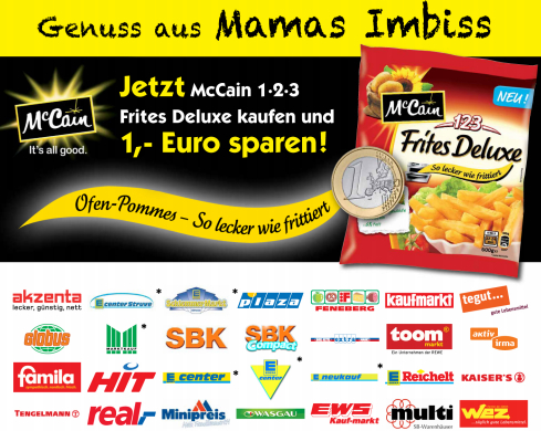 McCain Pommes Coupon