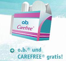 Post image for Gratis Set o.b.® Tampons und CAREFREE® Slipeinlagen