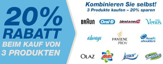 20% Rabatt auf Procter & Gamble