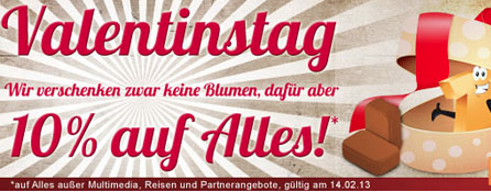 Post image for 10% Rabatt auf Alles bei Plus.de zum Valentinstag