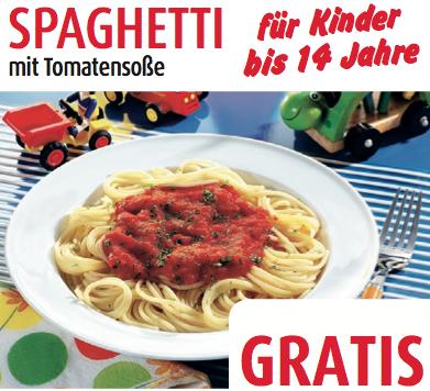 Post image for Spaghetti mit Tomatensoße für Kinder bis 14 Jahre gratis bei Porta