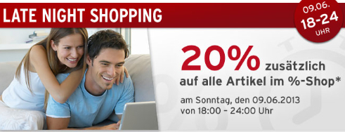Late Night Shopping bei Tchibo