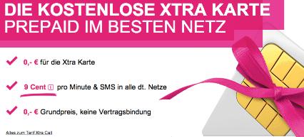 Gratis Xtra Card von T-Mobile