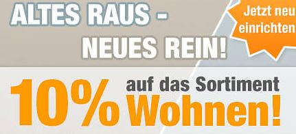 Post image for Plus.de: 10% Rabatt auf das Sortiment Wohnen – nur heute!