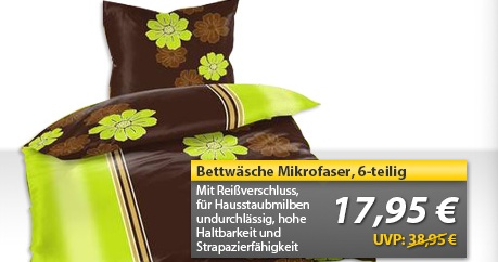 Bettwäsche Set Blume grafisch 6 teilig