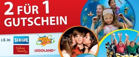 2für1 Freizeitpark Tickets Punica