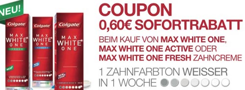 Colgate Max White One Coupon