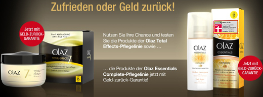 Oil of Olaz kostenlos testen dank Cashback