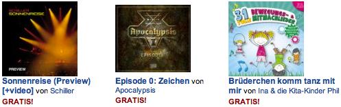 MP3 Download bei Amazon kostenlos