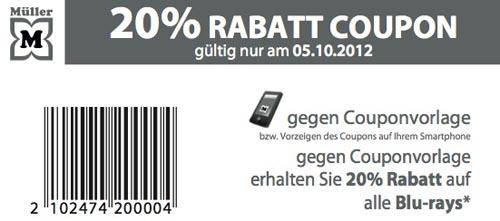Müller Blu-ray Rabatt Aktion