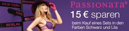 15 Euro Rabatt auf Passionata Unterwäsche