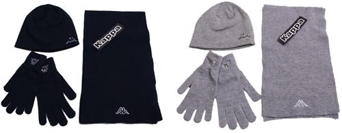 Kappa Winterset mit Mütze Schal Handschuhen