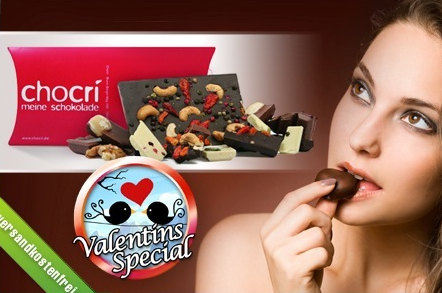 Chocri Wertgutschein für individuelle Schokolade