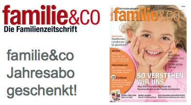 """Post image for Kostenloses Jahresabo der Zeitschrift """"familie & co"""""""
