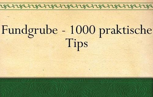 """Post image for Gratis Ebook Download: """"Fundgrube – 1000 praktische Tips für die Hausfrau"""""""