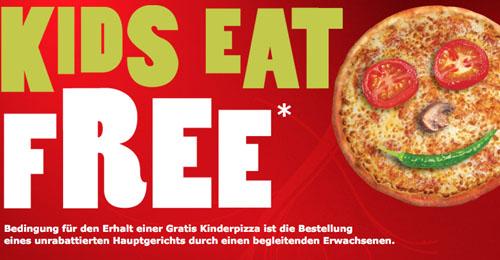 Post image for Kostenloses Gericht für Kinder (bis 12 Jahre) bei Pizza Hut