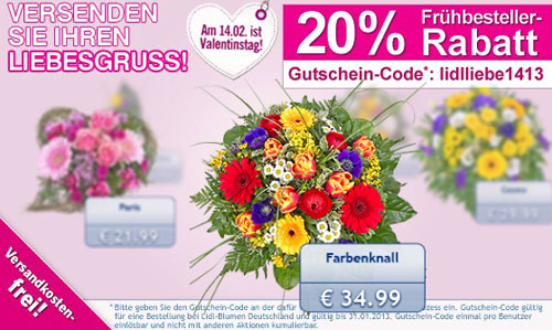 Lidl Blumen Rabatt Gutschein