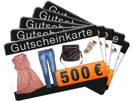 Post image for Gewinnspiel: 5 x 500€ Mode-Gutscheine zu gewinnen