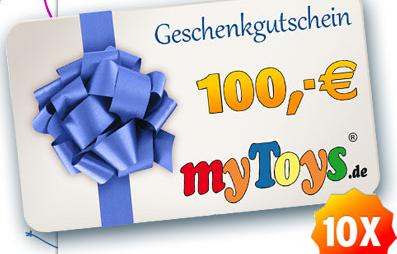 Post image for Gewinnspiel: 10 myToys Gutscheine im Wert von 100€ zu gewinnen