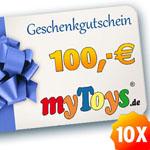 Thumbnail image for Gewinnspiel: 10 myToys Gutscheine im Wert von 100€ zu gewinnen