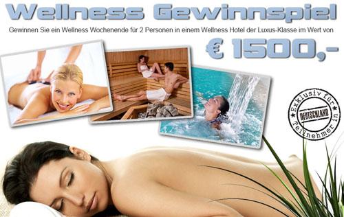 Post image for Gewinnspiel: Wellness-Wochenende für 2 Personen im Wert von 1.500€