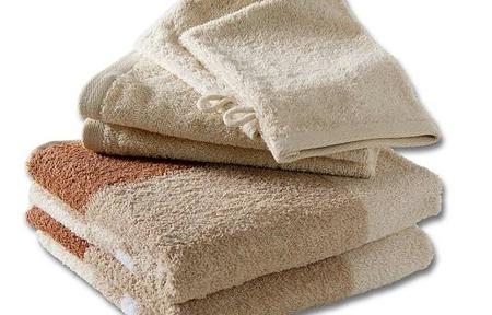 Handtuchset in beige braun
